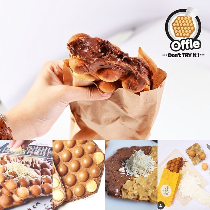 Crispy waffle with melted chocolate & cheese from Offle at Food Container, Jl. Lebak Bulus Raya No.30A, 081215155885