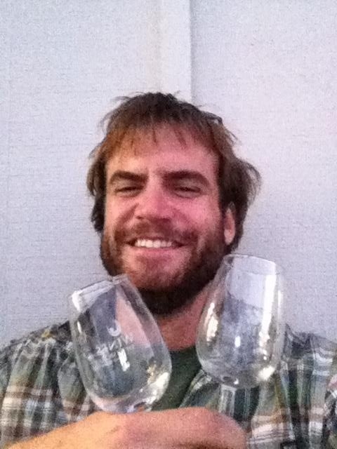 Kevin from the USA worked harvest at GisVin Gisborne New Zealand, 2013, Finalist in the Face Off #VinAntics beard growing competition