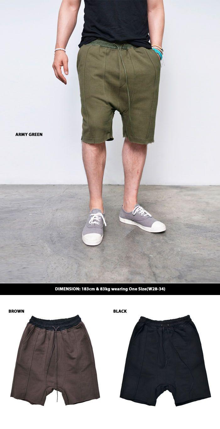 Contrast Pocket Baggy Sweats-Shorts 120 by Guylook.com
