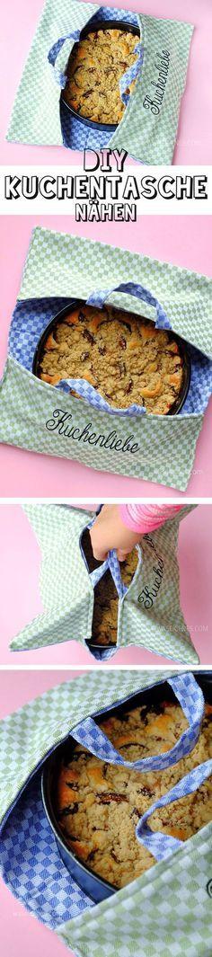 DIY Kuchentasche aus Geschirrhandtüchern nähen