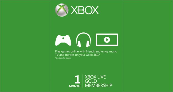 Xbox Live Gold 1 Month Global Code