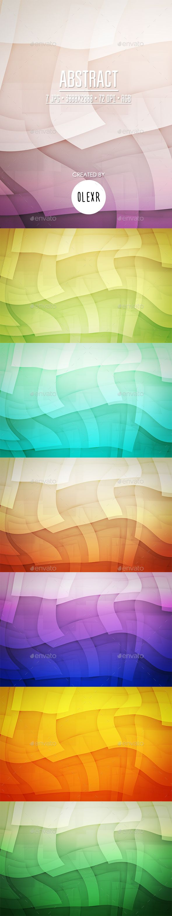 Abstract Backgrounds by OlexR  7 JPG files 3000脳2000 px 72 DPI RGB