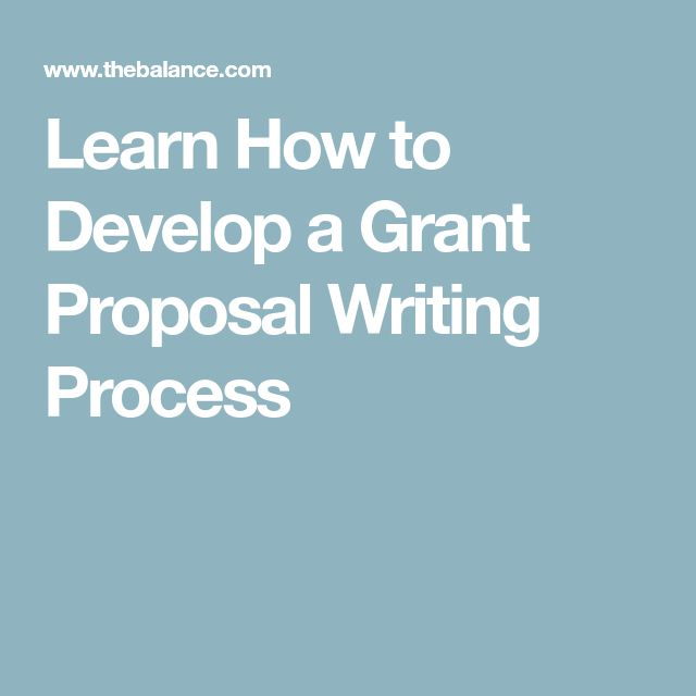 Learn How to Develop a Grant Proposal Writing Process