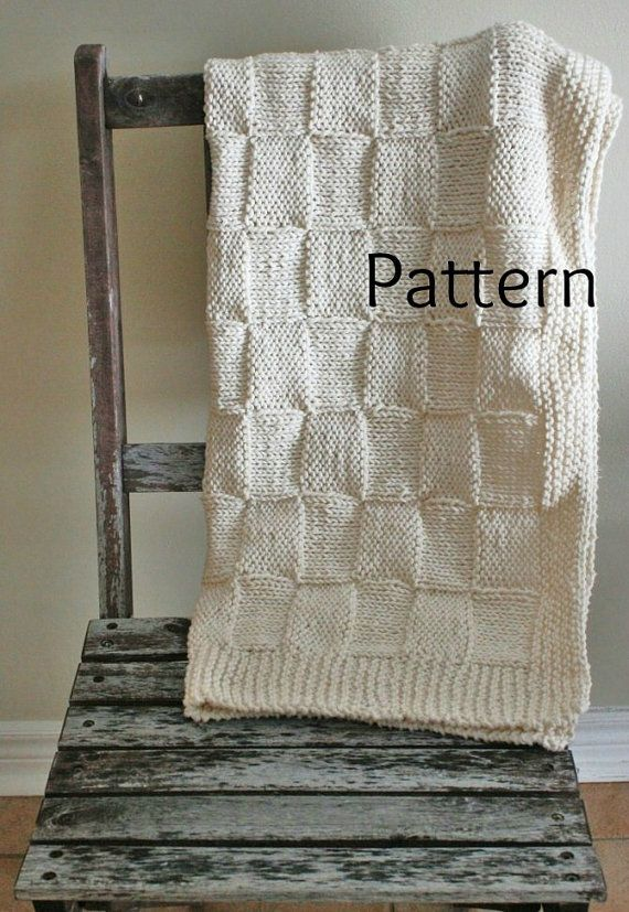 Knitting PATTERN Baby Blanket/The Siberian Baby Blanket /Perfect For Beginner...