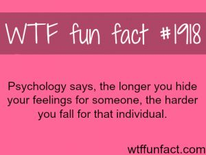 Makes sense... I usually tell one of my close friends right away when I have a little thing or someone, but this one crept up on me and I kept it a secret for months...