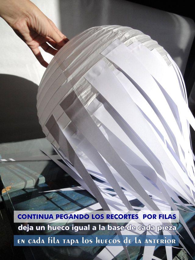 16 best images about lamparas on pinterest tissue paper - Lamparas de techo de papel ...