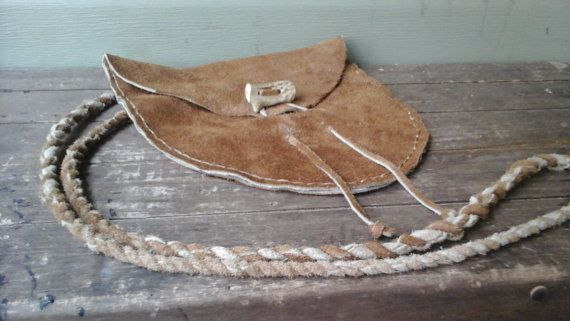 Primitive Buffalo Leather Possibles Bag by BearClawHandcraft