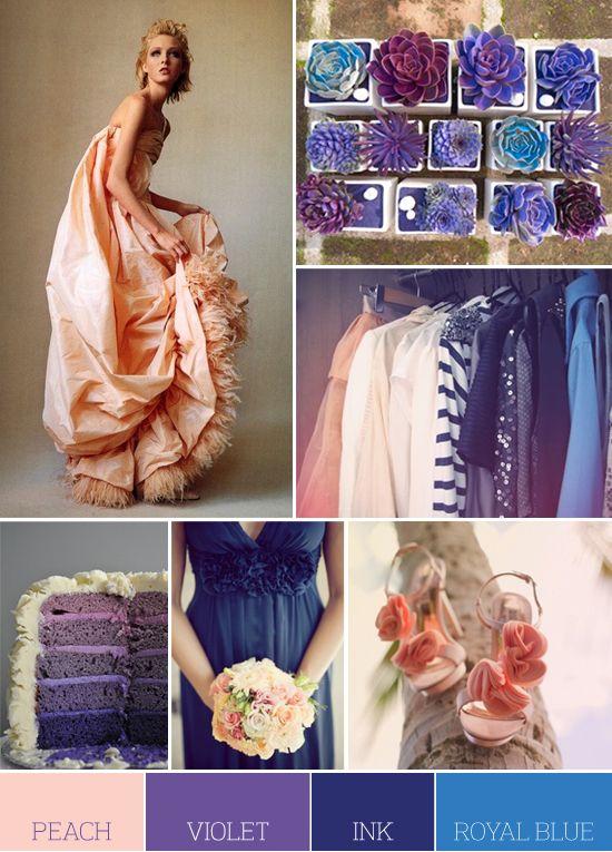 color palette: dark blues and purples w/ peach