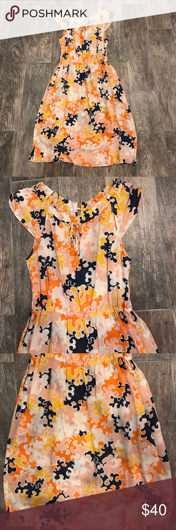 Vanessa Virginia Puzzles Pieces Dress Great Condition! 100% silk! Great condition. Anthropologie Dresses Midi