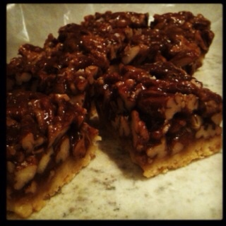 pecan shortbread squares. | Love and Best Dishes | Pinterest