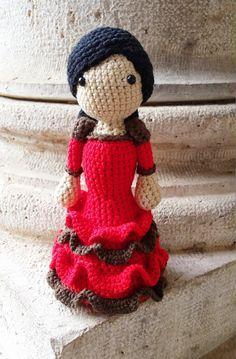 Tejiendo con Max: Flamenca con volantes a crochet.
