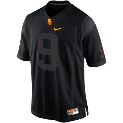 Nike USC Trojans 2013 Blackout Game #9 Limited Jersey - Black