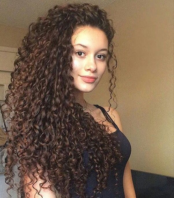Peachy 1000 Ideas About Long Curly Hair On Pinterest Curly Hair Long Hairstyles For Women Draintrainus