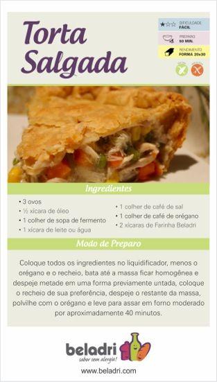 Receita de Torta Salgada sem Glúten e sem Leite/Lactose! Saiba mais sobre a Farinha sem Glúten Beladri: https://www.emporioecco.com.br/farinha-sem-gluten-beladri