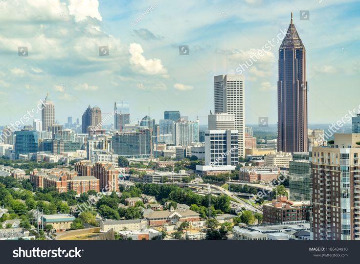 Aerial view of downtown atlanta atlanta
