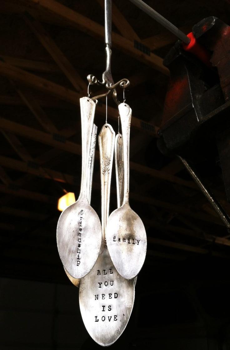 Vintage 5 Spoon Wind Chime $40.00, via Etsy.