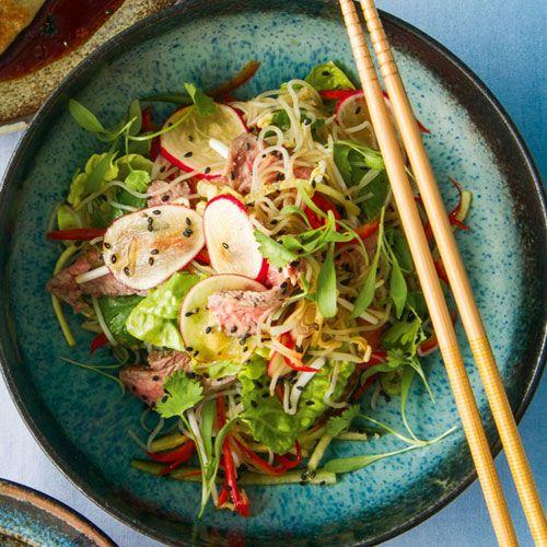 Asian-style sirloin & noodle salad