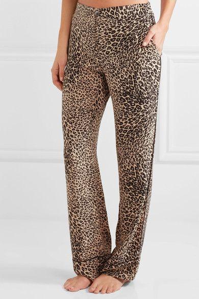 Equipment - Odette Leopard-print Washed-silk Pajama Set - Leopard print - medium