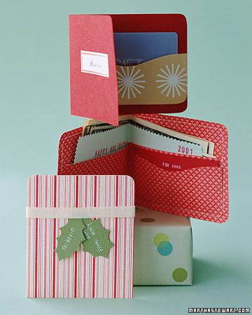 Gift Wallet- I have done this for a teen in the past. Looks neat and better than having cash in a card....