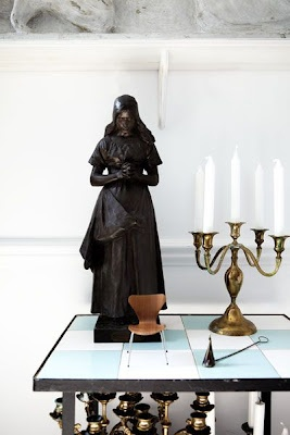 decorative figure + candelabras ii