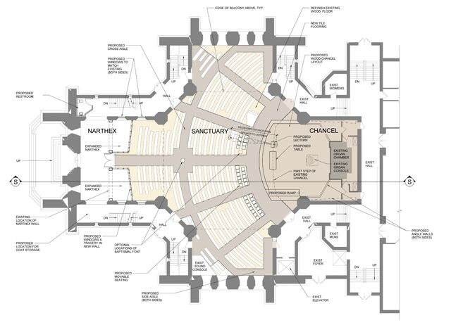 53 best church design floor plan images on pinterest for Modern church designs and floor plans