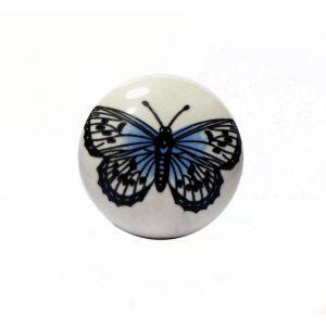 Ceramiczny uchwyt meblowy 'Motyl' - www.galkidoszafek.pl