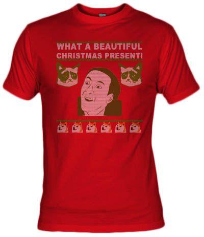 Camiseta Meme christmas, nicolas cage, grumpy cat, doge, Fanisetas.com, faniseto, sweeter