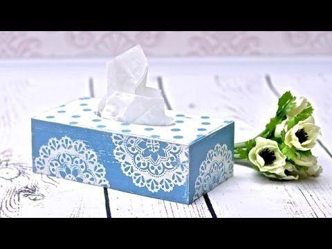 Decoupage chustecznik z vintage effect - DIY tutorial - YouTube