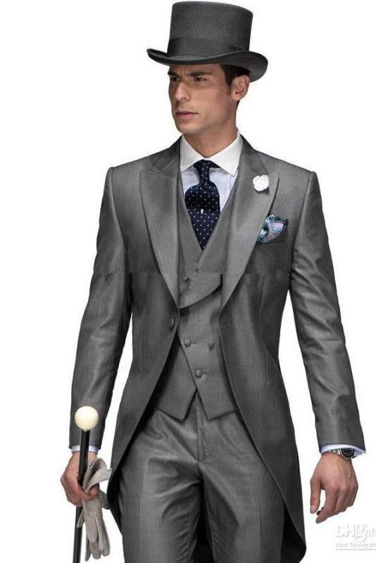 Men's Morning Wedding Suits Long Tuxedos Groom Suit Tailcoats Business Suit 2016 | eBay