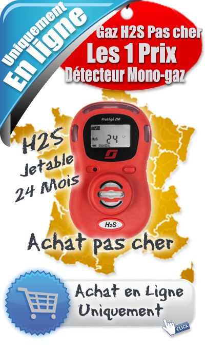 « Détecteur Monogaz H2S Protégé ZM Scott » - Détecteur Monogaz H2S - Prix 166.00 € Ht.