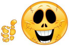 skull smiley sticker