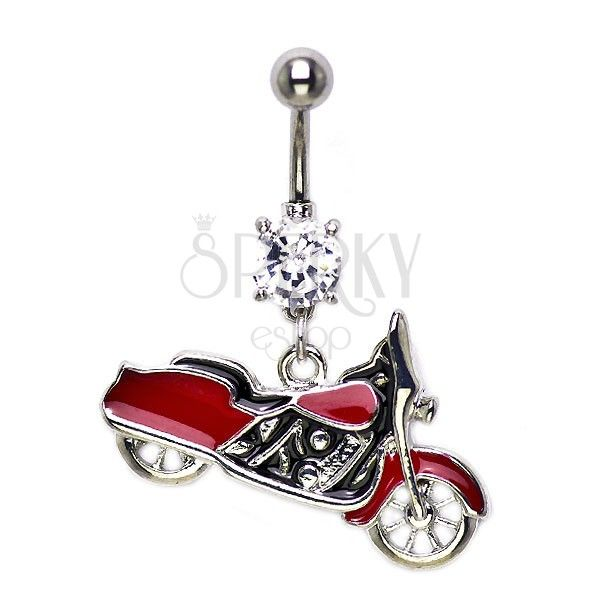 harley davidson belly button rings | Piercing do pupka motorka so zirkónom