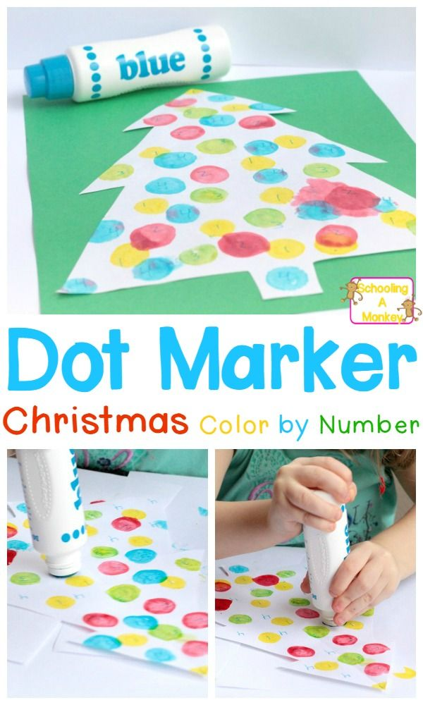This simple Christmas color by number activity helps preschoolers learn to recognize numbers in a fun, holiday-themed way!