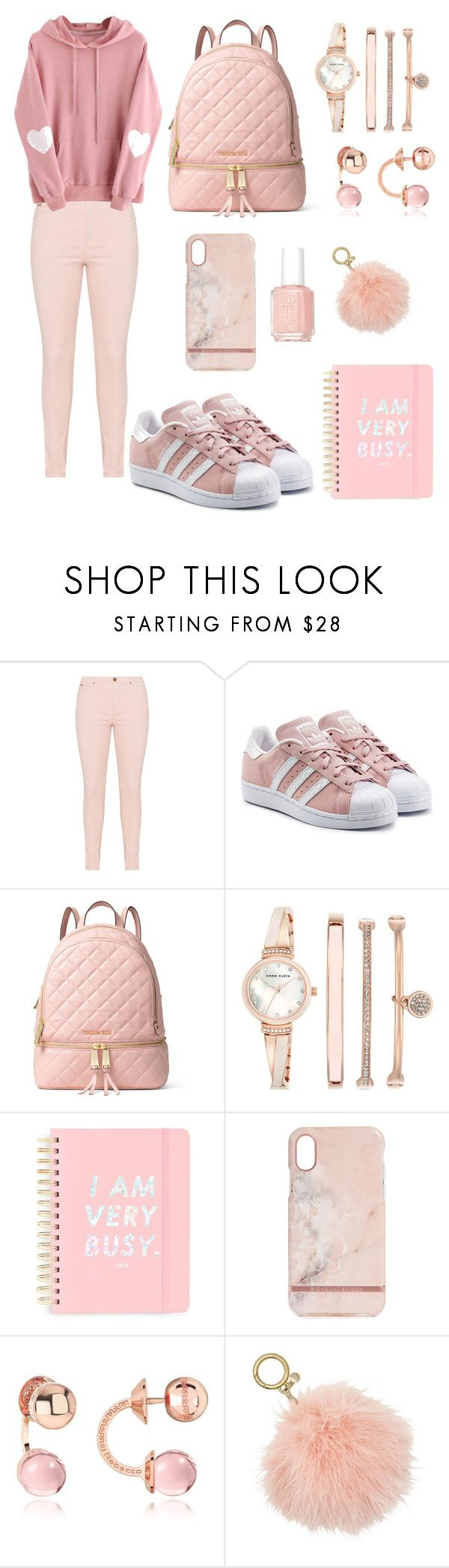 """THE PINK FRIDAY"" by amanda-turlaite ❤ liked on Polyvore featuring adidas Originals, MICHAEL Michael Kors, Anne Klein, ban.do, Richmond & Finch, Rebecca and Essie"