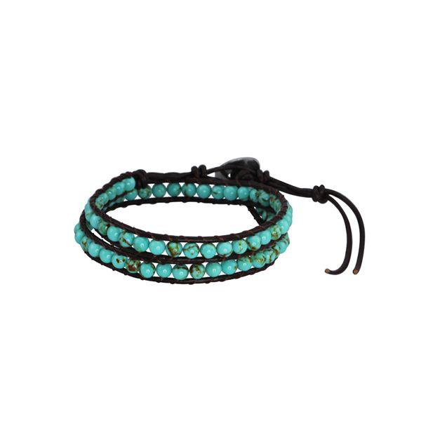 Tibet Turquoise and Brown Leather Wrap Bracelet - Unisex - http://lily316.com.au/shop/bracelets-ladies-vintage/tibet-turquoise-leather-wrap-bracelet/