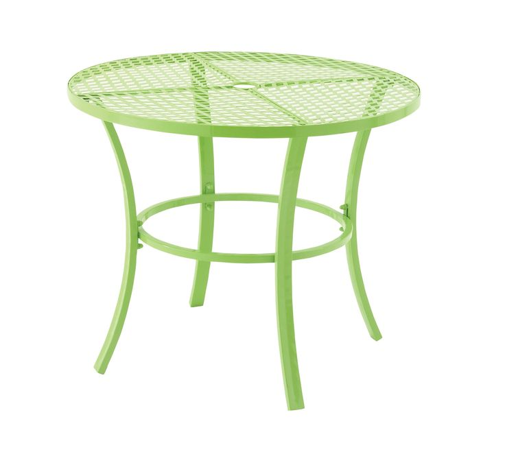 Captivating metal round outdoor table