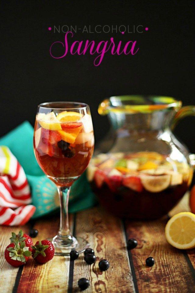 Non-Alcoholic Sangria Mocktail | Recipe | Non alcoholic, Sangria and ...