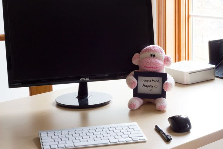CubiePals sock monkey with dry erase board - cute office gift - cubicle decor - cute desk accessory - cute dorm decor - whiteboard - pink by ToriNgDesigns on Etsy