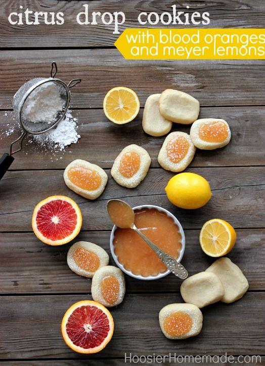 Citrus Drop Cookies with Blood Oranges and Meyer Lemons :: Recipe on HoosierHomemade.com