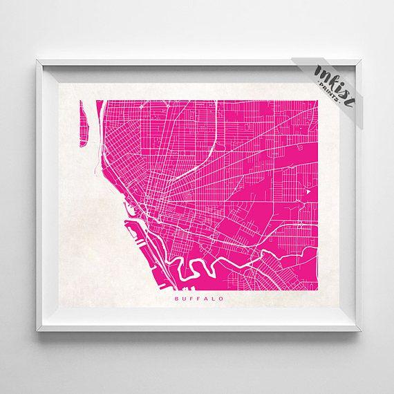 Buffalo Map, New York Print, Buffalo Poster, New York Art, Dorm Decor, Home Decor, Playroom Wall Art, Dorm Room Art, Christmas Gift, Wall Art. PRICES FROM $9.95. CLICK PHOTO FOR DETAILS.#inkistprints #map #streetmap #giftforher #homedecor #nursery #wallart #walldecor #poster #print #christmas #christmasgift #weddinggift #nurserydecor #mothersdaygift #fathersdaygift #babygift #valentinesdaygift #dorm #decor #livingroom #bedroom