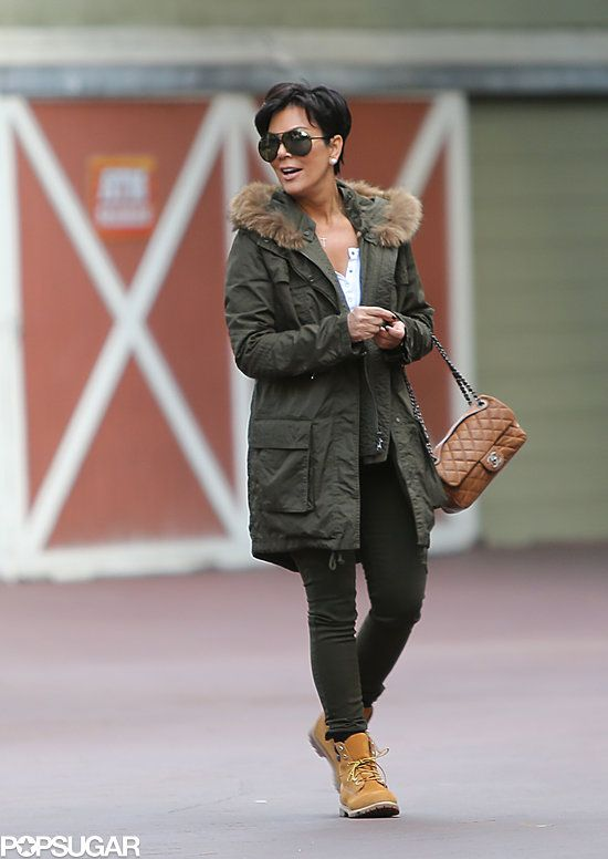 I love this look on Kris Jenner. It shows you can be an older woman with contemporary, cool style.