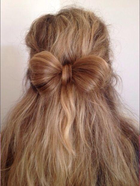 Bow Hair / hippe kapsels/ strik haar/ blond/ braid hair