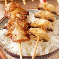 Découvrez la recette Brochettes façon yakitori sur cuisineactuelle.fr.