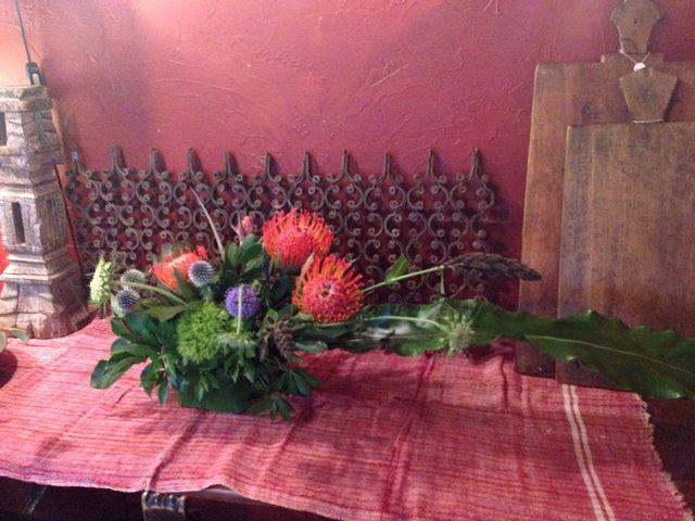 44 flower arrangement / bottle brushes
