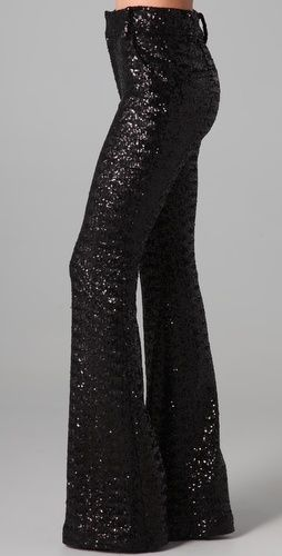 Alice + Olivia high waisted sequin pants...if I were thin I would wear these