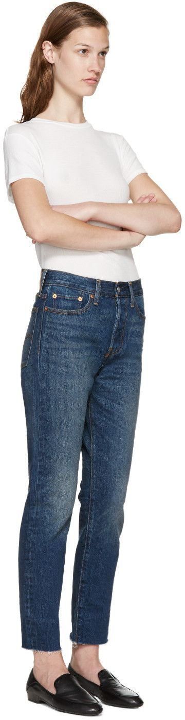 Levi's - Blue Wedgie Icon Jeans