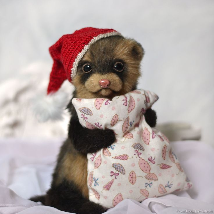 Buy Ferret Teddy Christmas gnome on Livemaster online shop