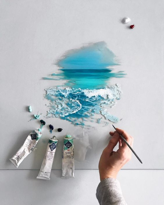 10 modern artists who fell in love with sea – PAINTING INSPO – #Artists #fell #I…