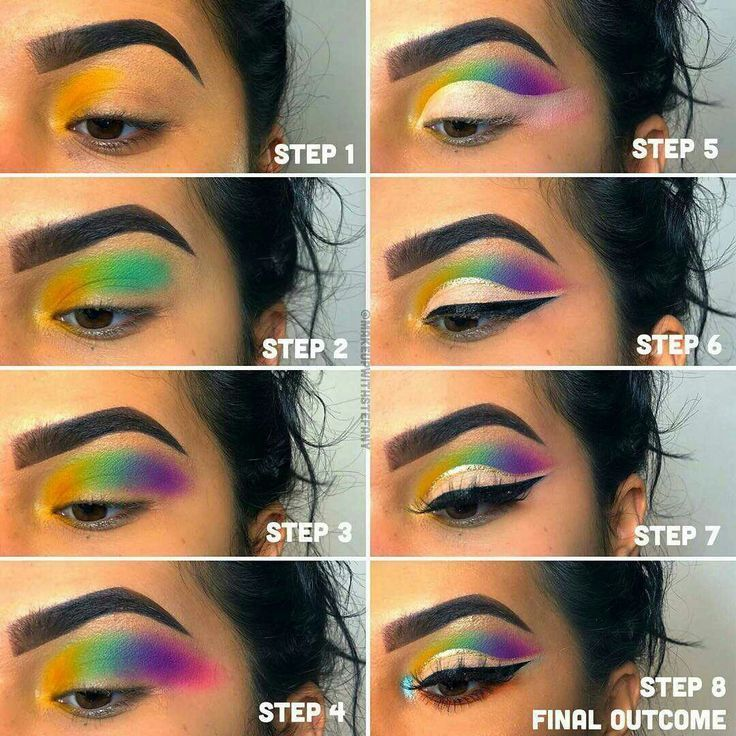 Carnival Or Festival Colorful Eye Makeup Look A Step By Step Easy