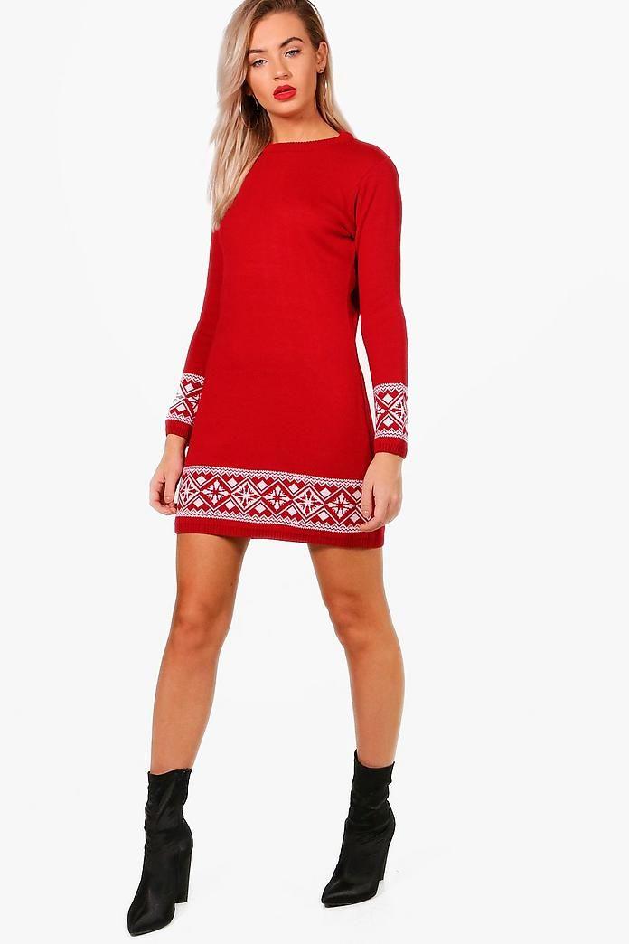 Camilla Fairisle Christmas Jumper Dress